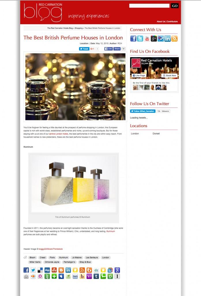 Red Carnation Blog- best perfume house London